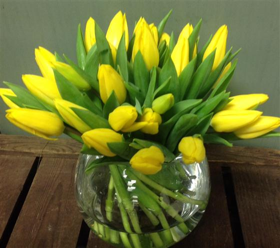 Yellow Tulip Vase